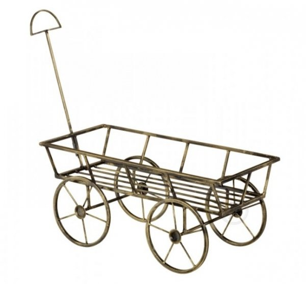 Kwietnik metalowy - Stojak na kwiaty - Wózek