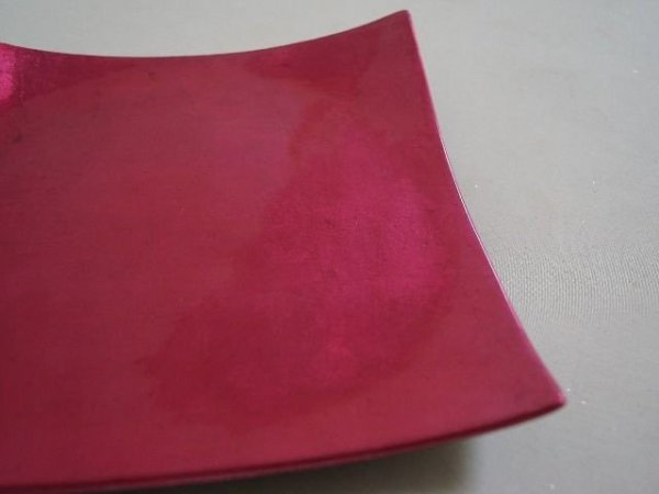 Patera na owoce - Amarant - Ceramiczna - 20x3cm