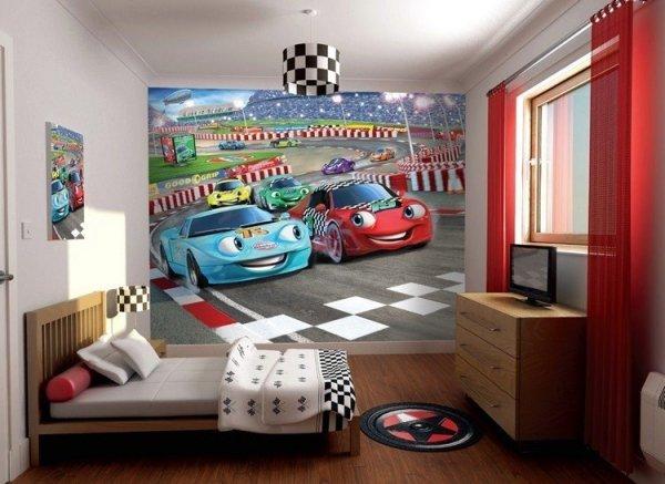 Fototapeta dla dzieci - Auta 2 Disney - 3D - Walltastic - 243,8x304,8 cm