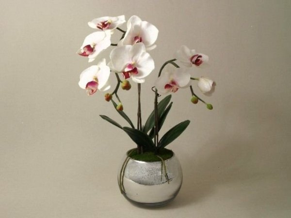 Sztuczny storczyk - Orchidea w doniczce - decoart24.pl
