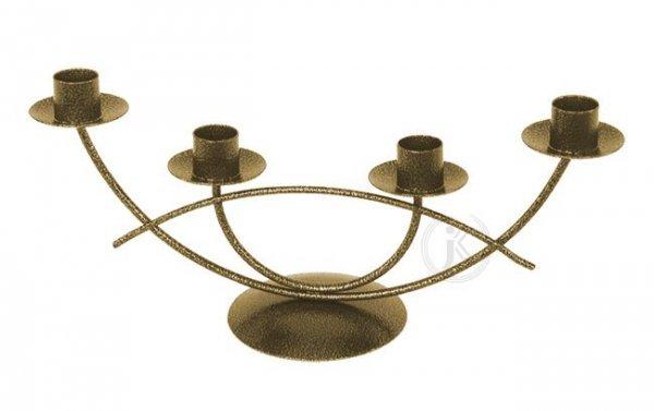 Świecznik metalowy - Na 4 Świeczki