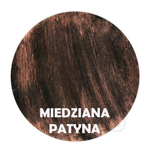 Miedziana patyna - kolorystyka metalu - Kwietnik metalowy - Okno - DecoArt24.pl