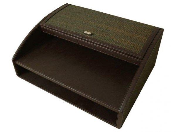 Organizer na biurko - 34x27x14cm - Ekoskóra