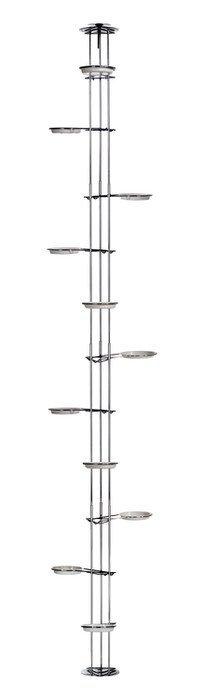 Kwietnik metalowy - Stojak na kwiaty - Rozporowy Chrom (250cm)