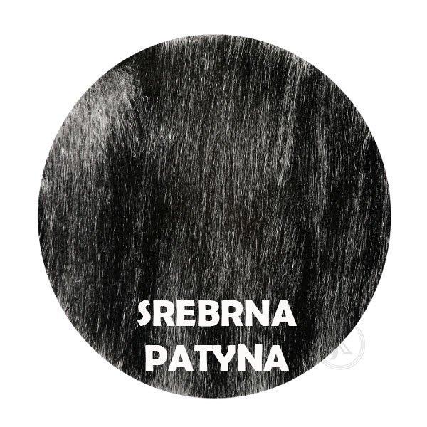 Srebrna patyna - kolorystyka metalu - Kwietnik - 2 doniczki - Sklep