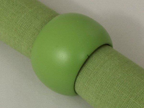 Obrączki na serwetki - Zielone - Drewniane - 4szt/op