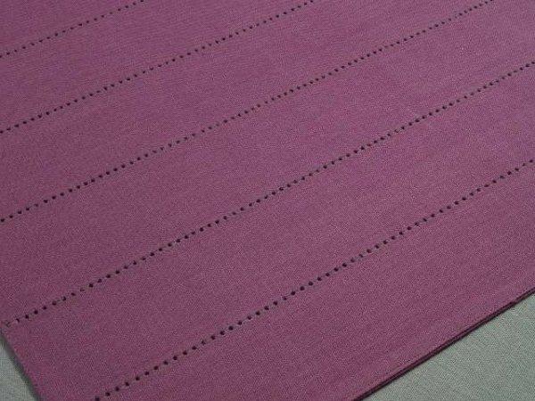 Podkładki na stoł - Ciemnofioletowe - Z mereżką - 33x48cm - 4szt/op