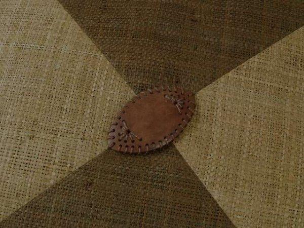 Poszewka dekoracyjna - Brąz biszkopt - Z rafii 45x45cm