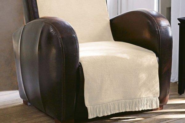 Narzuta na kanapę - 100x200 cm - Ecrue