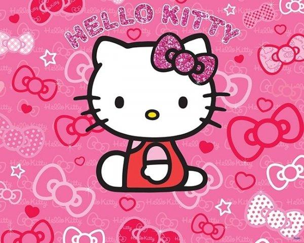 Fototapeta dla dzieci - Hello Kitty - 3D - Walltastic