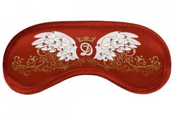 Opaska na Oczy - Wzór Swarovski Wings red