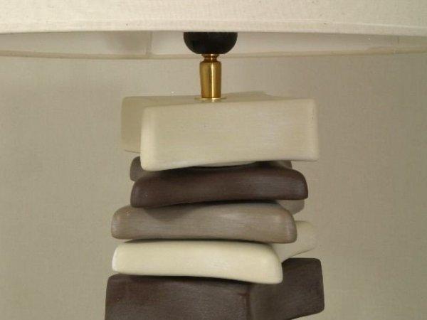 Lampa stołowa - Kamienie - 40x60cm