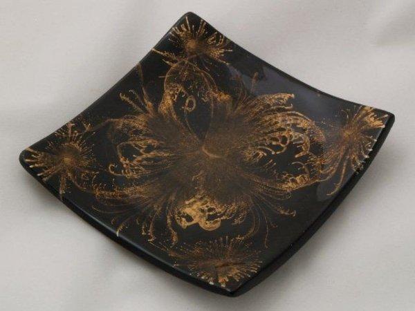 Patera na owoce - Złoto - Ceramika - 14x2cm