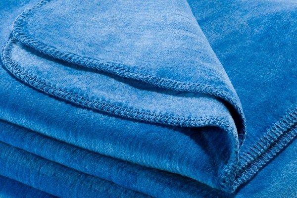 Koc - Niebieski - 130x180 cm - SoftLine Blue