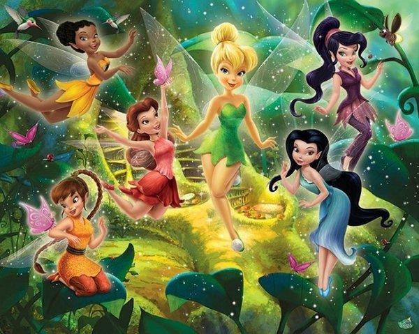 Fototapeta dla dzieci - Disney Fairies - 3D - Walltastic - 243,8x304,8cm
