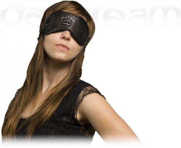 Opaska na Oczy - Wzór Swarovski Crown black