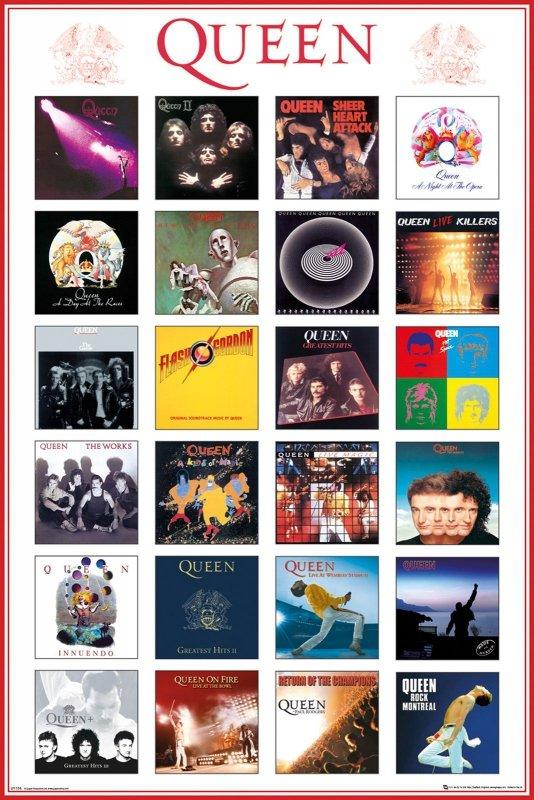 Plakat Na ścianę Queen Covers Okładki Albumów