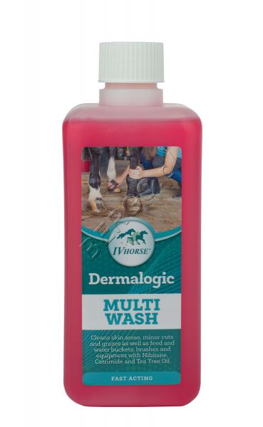 IV HORSE DERMALOGIC MULTI WASH Płyn dezynfekujący do mycia ran 500ml 24H