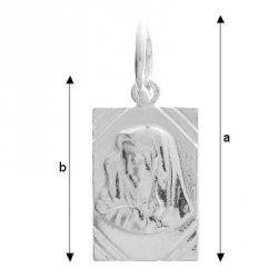 Medalik Zawieszka srebro 925 Chrzest +Dedykacja