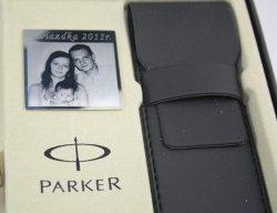 Mosiężna tabliczka do zestawów Parker +Twój GRAWER