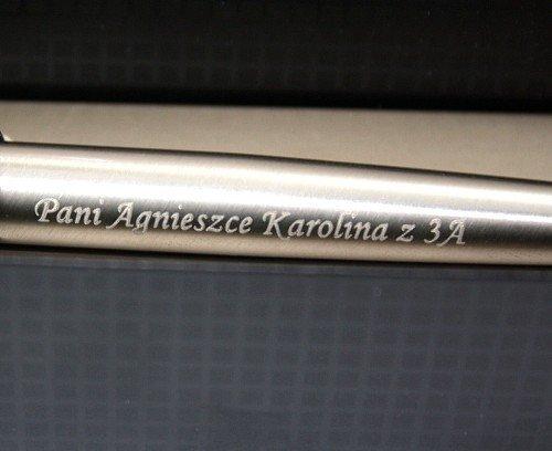 Zestaw Długopis Parker Jotter Stal GT Etui Skóra GRAWER