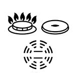 Garnki do kuchenek gazowych, ceramicznych, elektr.