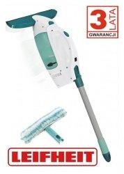 Zestaw do czyszczenia szyb Leifheit Vacuum Power Washer: ściągaczka elektryczna wraz z drążkiem o długości 43 cm, myjka dwustronna z nakładką micro duo  (Symbol: 51147)