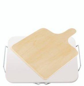 Kamień do pizzy Leifheit z drewnianą łopatą | Symbol: 3160 | Ceramiczna podstawka