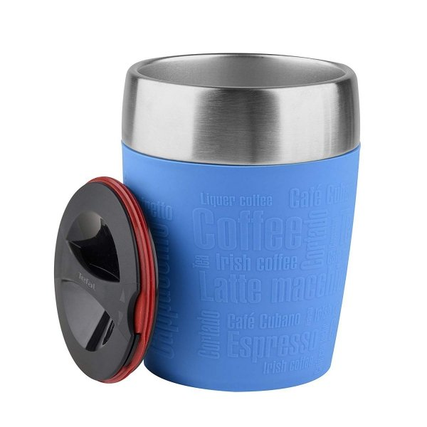 Kubek termiczny Tefal Emsa Travel Cup 0,2 L - dwa kolory: czarny / niebieski