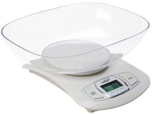 Elektroniczna waga kuchenna ADLER AD 3137 w (White/Biała)
