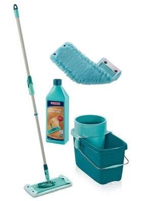 Mop obrotowy Leifheit Clean Twist Extra Soft XL 42 cm + Nakładka Static Plus + Płyn do parkietu | 52015/52018/41416
