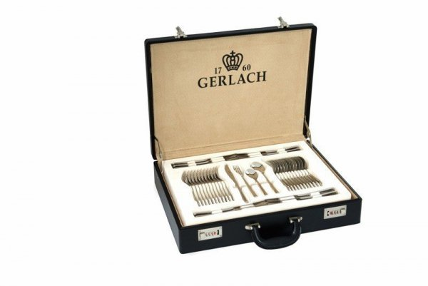 Sztućce Gerlach Flames (Symbol NK 03) w walizce - 68 sztuk, mat. #wysyłka G R A T I S#