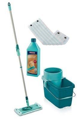 Mop obrotowy Leifheit Clean Twist Extra Soft XL 42 cm + Nakładka Micro Duo + Płyn do parkietu | 52015/52017/41416
