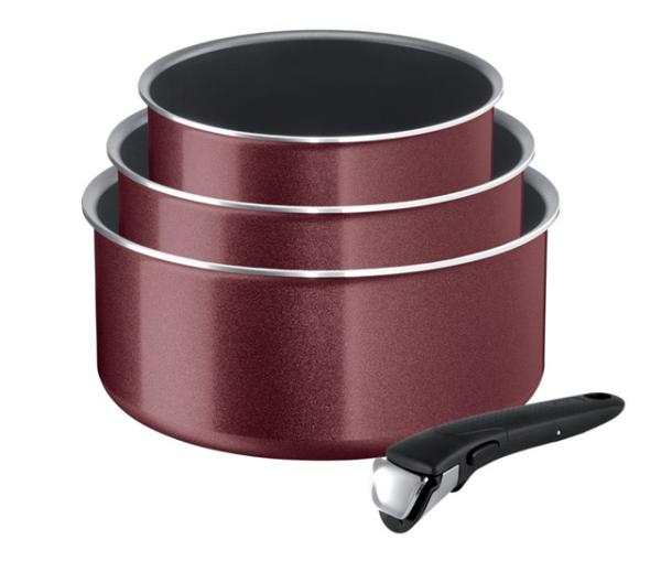 Garnki Tefal COOK'N'CLEAN L2379102 Ingenio 16/18/20 cm + rączka | 4 PCS