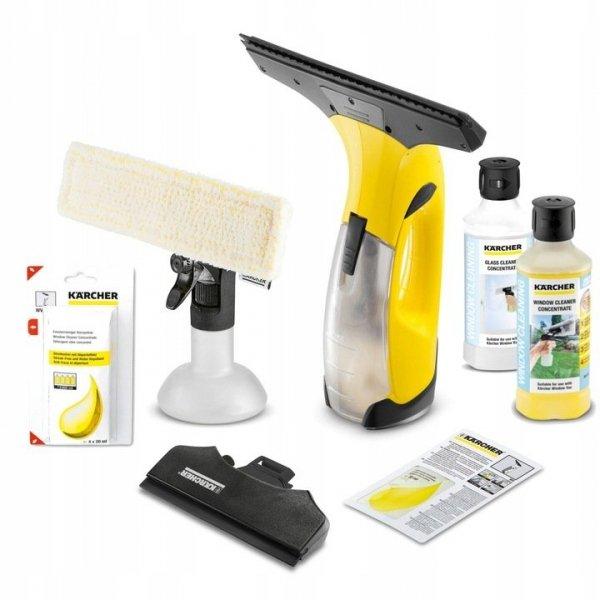 Kärcher ZESTAW myjka do okien WV2 Plus N + 2x500 ml + 4x20ml koncentratu środka do czyszczenia szkła