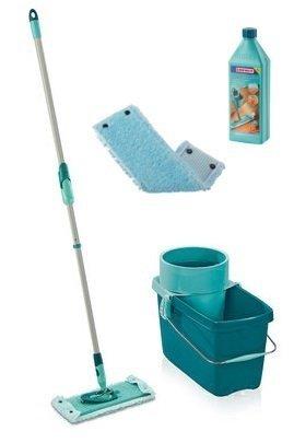 Mop obrotowy Leifheit Clean Twist z 2 nakładkami Extra Soft XL 42 cm + Płyn do parkietów | 52015/52016/41415