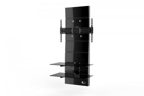 Półka pod TV z maskownicą Meliconi GHOST DESIGN 3000 | Panel TV | CZARNA