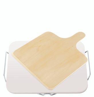 Ceramiczna podstawka do pizzy Leifheit z drewnianą łopatą (Symbol: 3160)