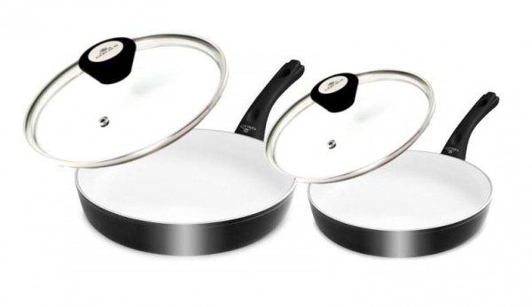 Patelnia Gerlach NK 325 Harmony Classic 20/28 cm (Ceramiczna) + Pokrywy Gerlach 399