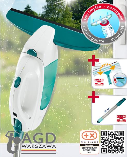 Ściągaczka elektryczna + drążek 43 cm + myjka ręczna 3 w 1 Leifheit 51108 Window Vacuum