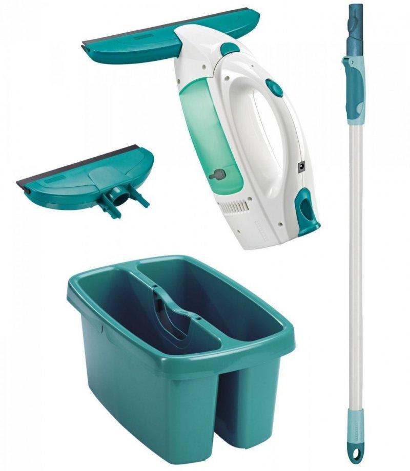 Myjka Leifheit Dry&Clean ze ściągaczką 27 i 17 cm + drążek 75-135 cm + wiadro dwukomorowe | 51004/56673/52001