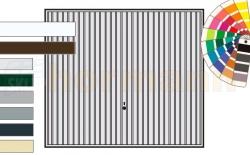 Brama uchylna N 80, 2500 x 2000, Wzór 902, kolor do wyboru