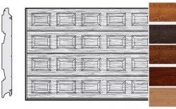 Brama LPU 42, 5000 x 2500, Kasetony S, Decograin, okleina drewnopodobna