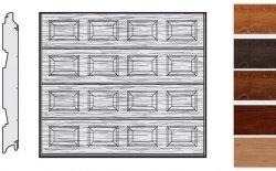 Brama LPU 42, 2500 x 2250, Kasetony S, Decograin, okleina drewnopodobna
