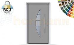 Drzwi aluminiowe ThermoSafe, Wzór 505, kolor do wyboru, przeciwwłamaniowe RC 3