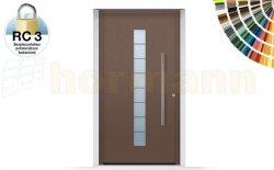 Drzwi aluminiowe ThermoSafe, Wzór 503, kolor do wyboru, przeciwwłamaniowe RC 3
