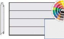 Brama LPU 42, 4250 x 2125 Przetłoczenia L, Silkgrain, kolor do wyboru