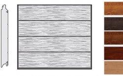 Brama LPU 42, 2500 x 2000, Przetłoczenia L, Decograin, okleina drewnopodobna