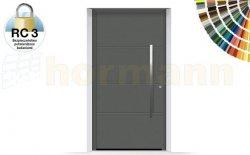 Drzwi aluminiowe ThermoSafe, Wzór 872, kolor do wyboru, przeciwwłamaniowe RC 3