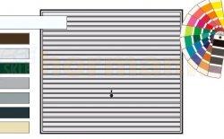 Brama uchylna N 80, 2500 x 2125, Wzór 968, kolor do wyboru